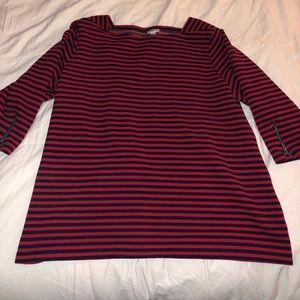 Croft&Barrow stripper quarter length sleeve top